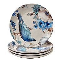Certified International Indigold Bird 4 pc Dinner Plate Set