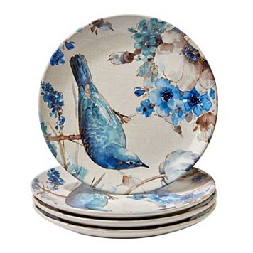 Certified International Indigold Bird 4-pc. Dinner Plate Set