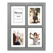 "Malden 4-Opening Distressed Gray 4"" x 6"" Floating Collage Frame"
