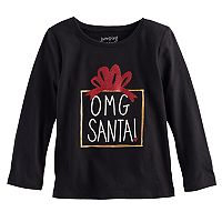 Toddler Girl Jumping Beans® Glittery Christmas Tee