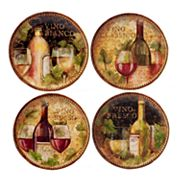 Certified International Gilded Wine 4 pc Salad Plate Set