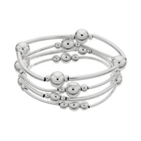 Plus Size Bead Stretch Bracelet Set