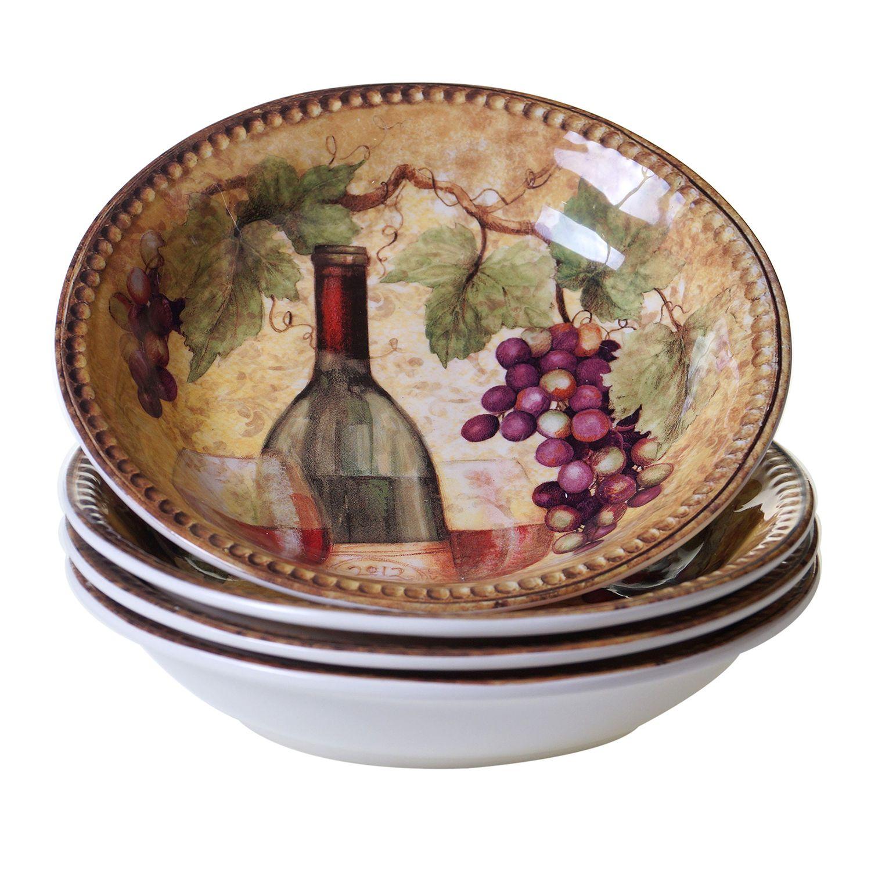 Certified International Gilded Wine 4-pc. Pasta Bowl Set.  sc 1 st  Kohlu0027s & Crystal Dinnerware u0026 Serveware Kitchen u0026 Dining | Kohlu0027s