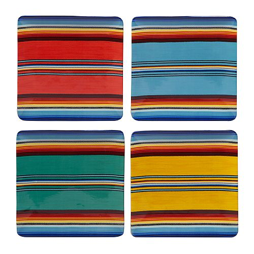 Certified International Pinata 4-pc. Dinner Plate Set