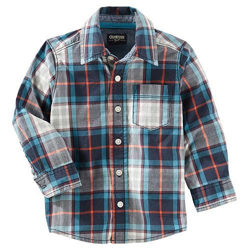 Boys 4-12 OshKosh B'gosh Plaid Button Down Shirt