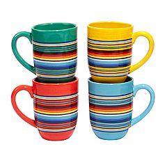 Certified International Pinata 4 pc Mug Set