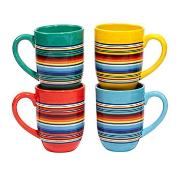 Certified International Pinata 4-pc. Mug Set