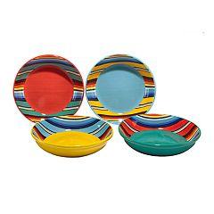 Certified International Pinata 4 pc Pasta Bowl Set.