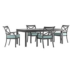 HomeVance Borego Patio Dining Table & Chair 5 pc Set