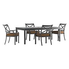 HomeVance Borego Patio Dining Table & Chair 5-piece Set