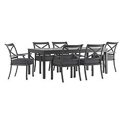 HomeVance Borego Patio Dining Table & Chair 7 pc Set