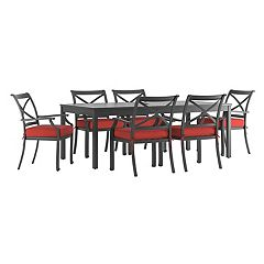 HomeVance Borego Patio Dining Table & Chair 7-piece Set