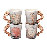 Certified International Coastal View 4 pc Mug Set