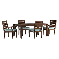 HomeVance Glen View Brown Patio Dining Table & Chair 5 pc Set