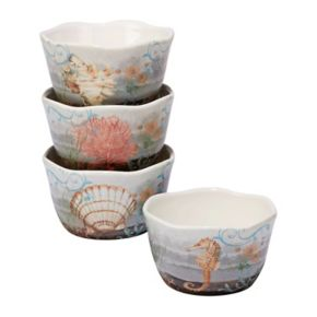 Certified International Coastal View 4-pc. Ice Cream Bowl Set