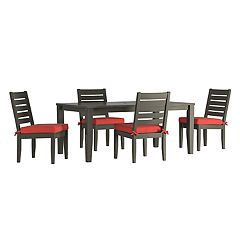 HomeVance Glen View Patio Dining Table & Armless Chair 5 pc Set