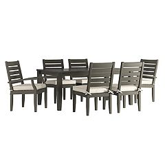 HomeVance Glen View Patio Dining Table & Chair 7 pc Set