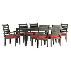 HomeVance Glen View Patio Dining Table & Chair 7-piece Set
