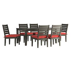 HomeVance Glen View Patio Dining Table & Armless Chair 7-piece Set
