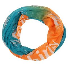 Women's Forever Collectibles Miami Dolphins Gradient Infinity Scarf