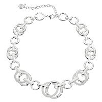 Dana Buchman Mesh Circle Link Necklace
