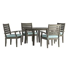 HomeVance Glen View Round Patio Dining Table & Chair 5-piece Set