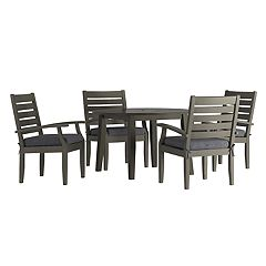 HomeVance Glen View Round Patio Dining Table & Chair 5 pc Set