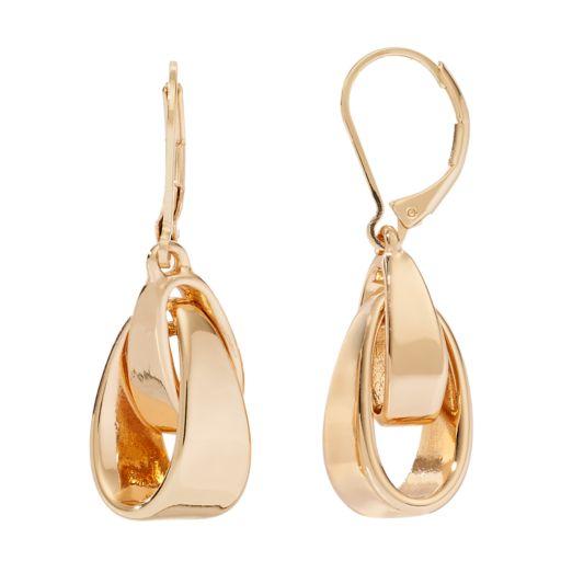 Dana Buchman Interlocked Drop Earrings