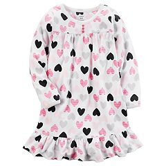 Girls 4-14 Carter's Patterned Ruffle Hem Microfleece Dorm Nightgown