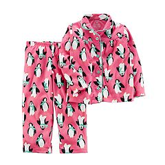 Girls 4-14 Carter's Patterned Button Front Top & Bottoms Pajama Set