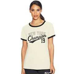 Women's Champion 'New York' Ringer Graphic Tee