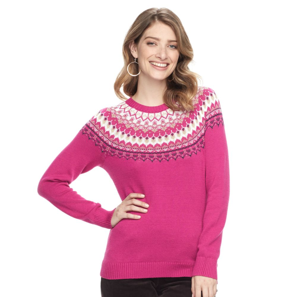 Croft & Barrow® Fairisle Crewneck Sweater