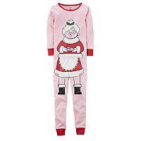 Girls 4-12 Carter's Mrs. Claus Top & Bottoms Pajama Set