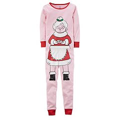 Girls 4-12 Carter's Mrs. Claus Top & Bottoms Pajama Set