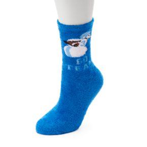 "Women's Jammies For Your Families ""Go Team"" Snowman Gripper Slipper Socks"