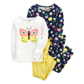 Girls 4-14 Carter's Butterfly & Flowers 4-pc. Pajama Set