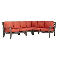 HomeVance Glen View Patio Sectional Sofa 4-piece Set