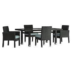 HomeVance Ravinia Wicker Patio Dinning Table & Chair 5-piece Set