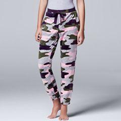 Women's Simply Vera Vera Wang Pajamas: Dream On Dreamer Jogger Pants