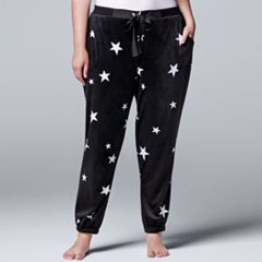 Plus Size Simply Vera Vera Wang Pajamas: Dream On Dreamer Jogger Pants