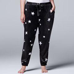Plus Size Simply Vera Vera Wang Pajamas: Dream On Dreamer Jogger Pants