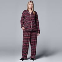 Plus Size Simply Vera Vera Wang Pajamas: North Isles Top, Pants & Socks PJ Set