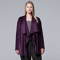 Plus Size Simply Vera Vera Wang Midnight Moon Cozy Wrap