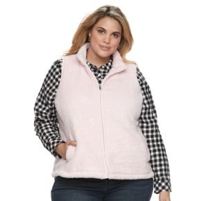 Plus Size Croft & Barrow® Faux-Fur Vest