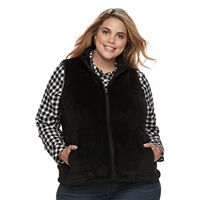 Plus Size Croft & Barrow® Faux-Fur Vest