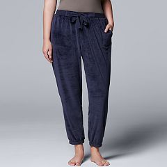 Plus Size Simply Vera Vera Wang Midnight Moon Jogger Pant