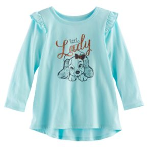 """Disney's Lady and the Tramp Baby Girl """"Little Lady"""" Graphic Tunic by Jumping Beans®"""