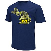 Men's Campus Heritage Michigan Wolverines State Tee