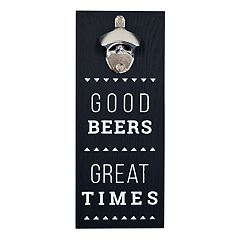 New View 'Good Beers' Bottle Opener Wall Decor