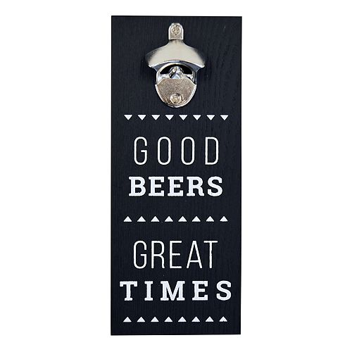 "New View ""Good Beers"" Bottle Opener Wall Decor"